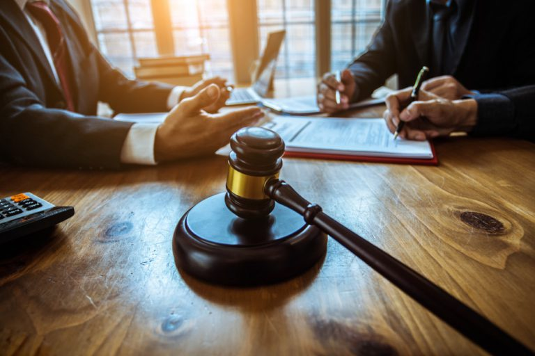 Legal gavel from real estate attorney
